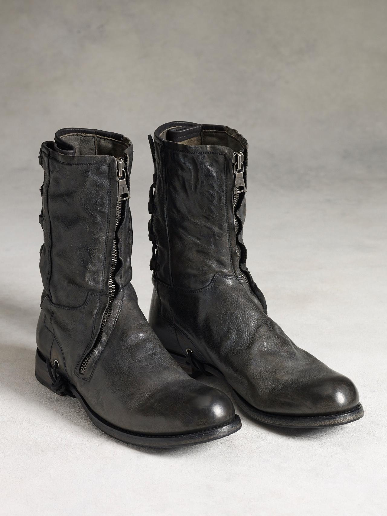 Lyst John Varvatos Engineer Straight Zip Boot In Black