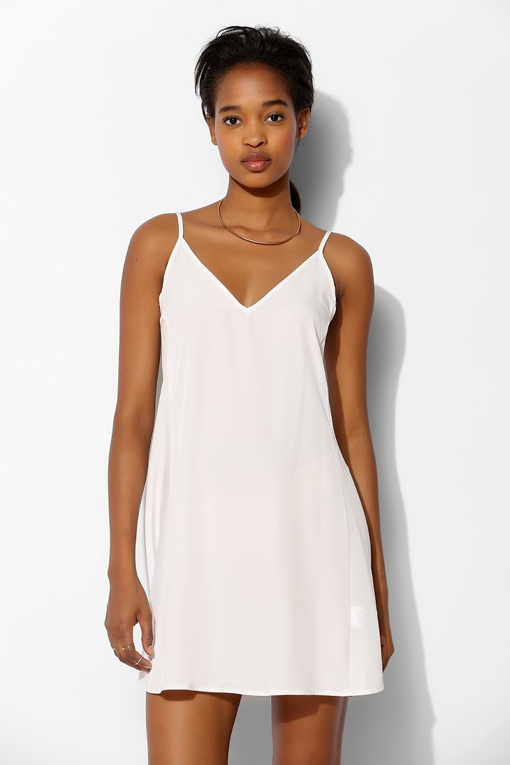 Oh my love Gathered Back Slip Dress in White | Lyst