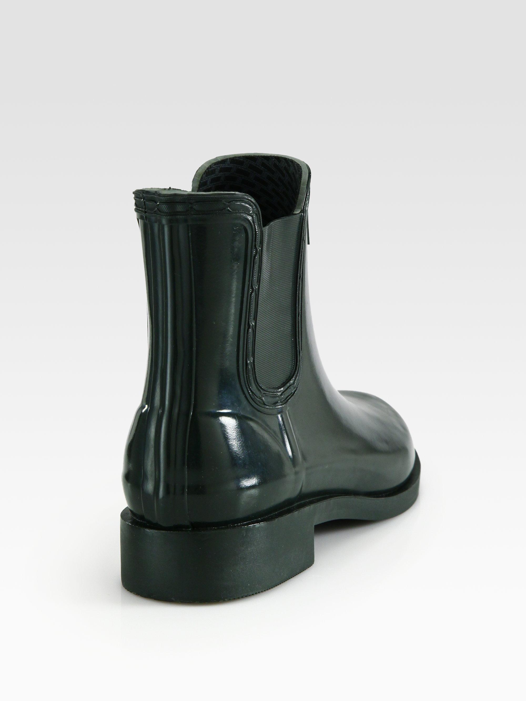Hunter Short Rubber Rain Boots in Black | Lyst