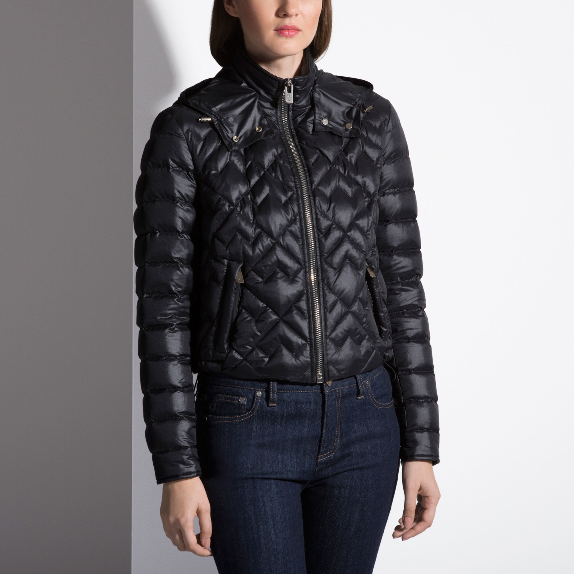 Bally Embroidered Down Jacket Women ́s Quilted Jacket In Black in ...