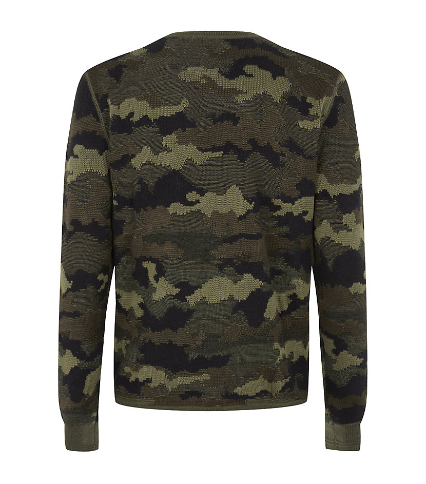 5673ce29 Polo Ralph Lauren Camouflage Henley Sweater in Green for Men - Lyst