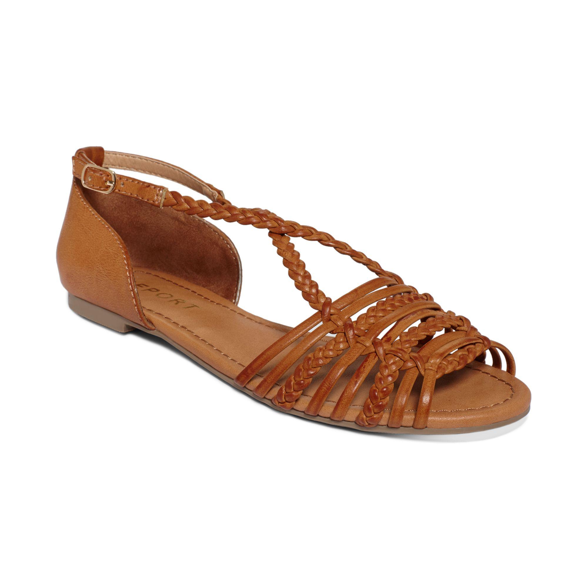 lyst report cristina flat sandals in brown. Black Bedroom Furniture Sets. Home Design Ideas