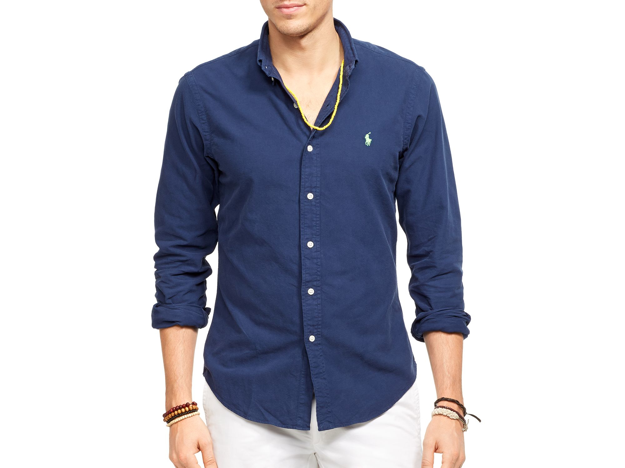 beef6d9dcf06 ... 50% off lyst polo ralph lauren oxford shirt slim fit in blue for men  3768d