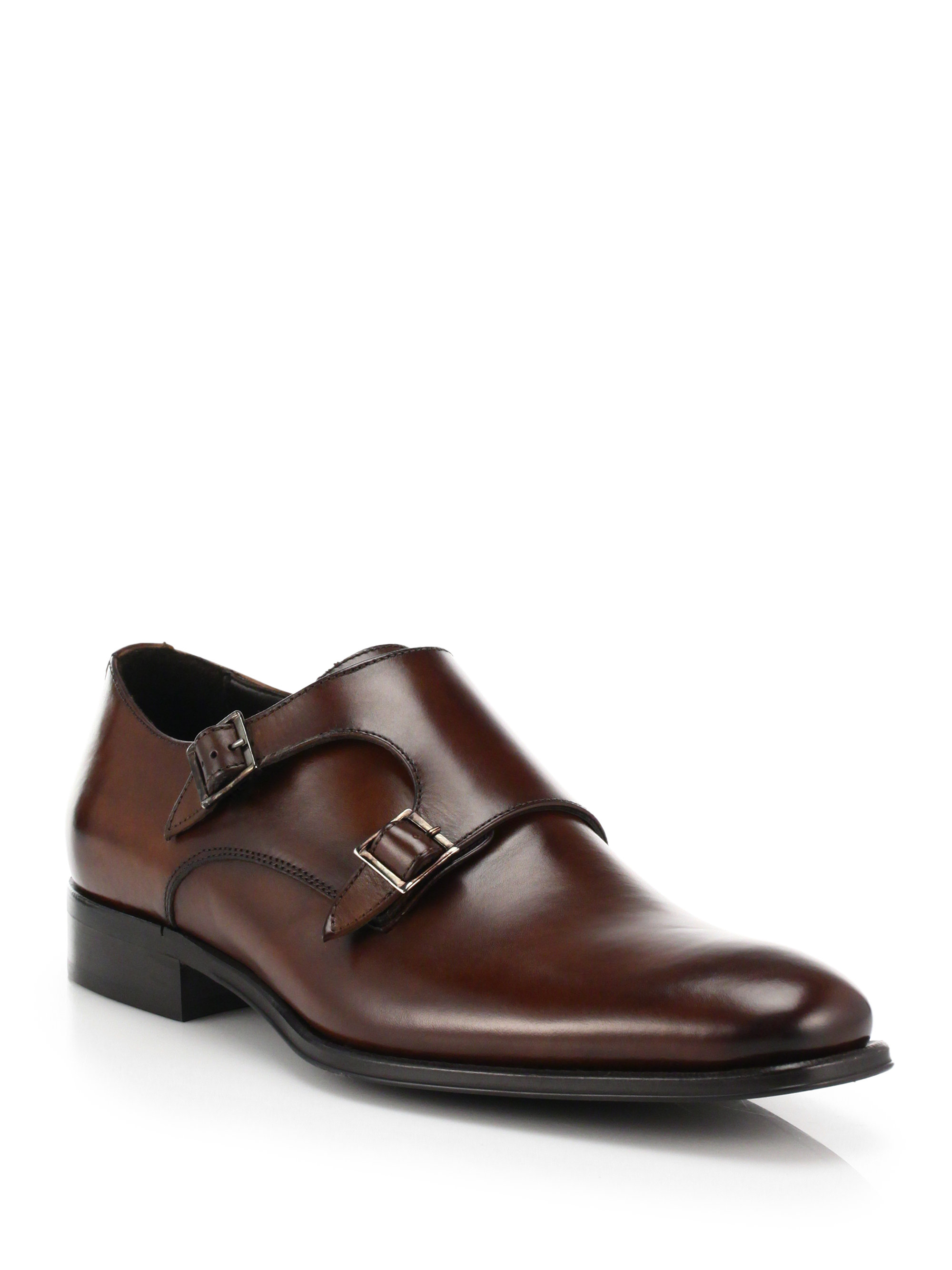 To Boot Glenn Double Monk strap Shoes In Brown For Men Lyst