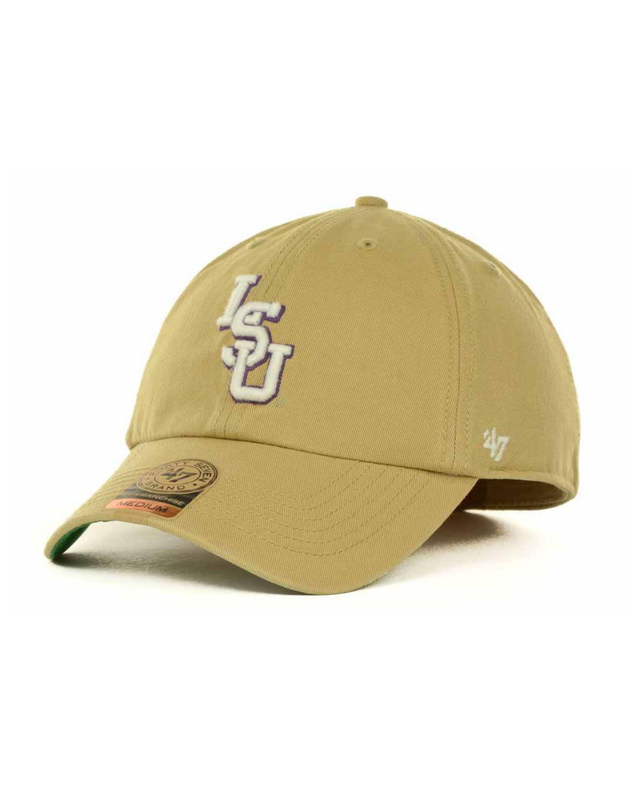 19b7e53d9ad13 clearance lyst 47 brand lsu tigers khaki franchise cap in natural for men  b6c80 2e667
