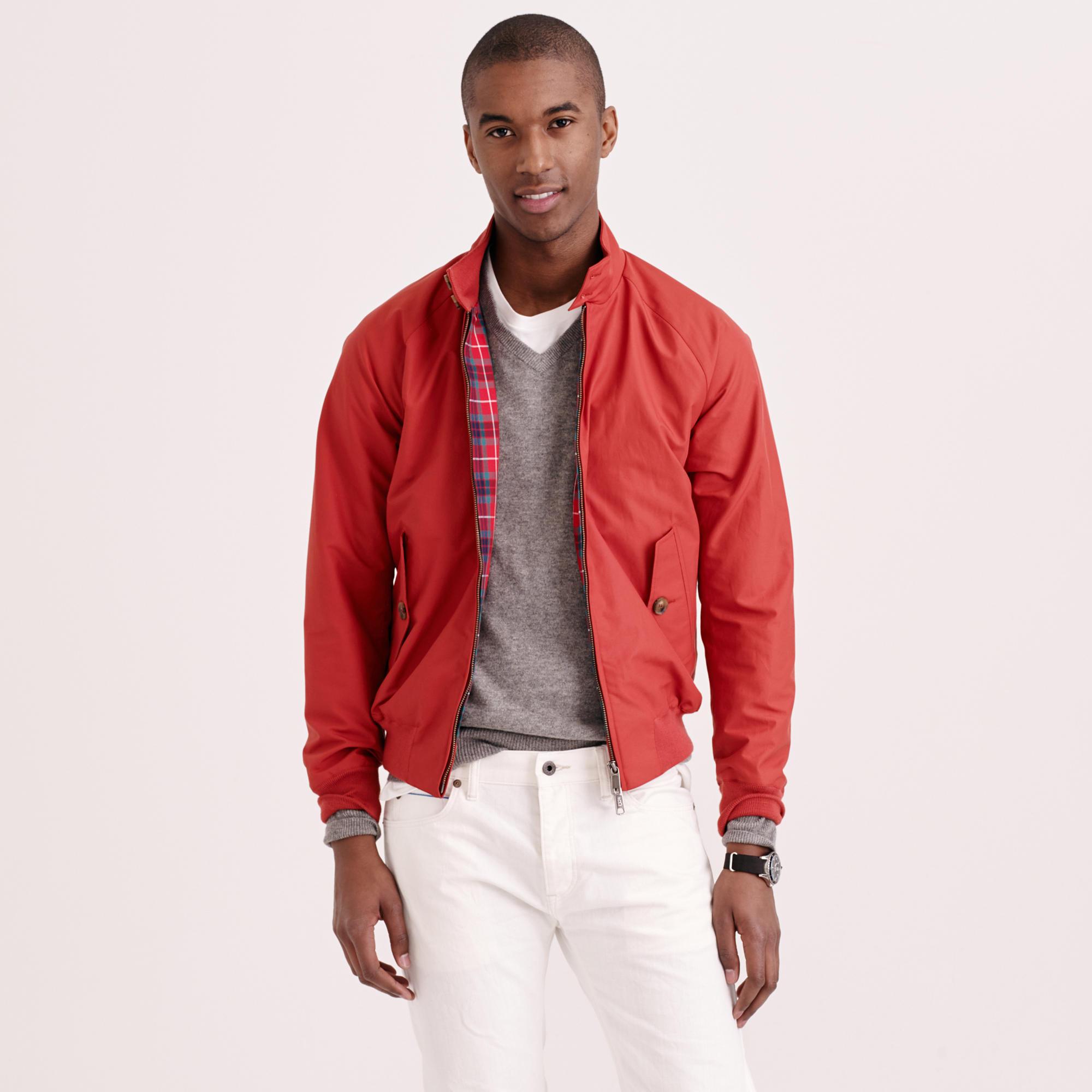 Baracuta G9 Harrington Jacket In Red For Men Lyst
