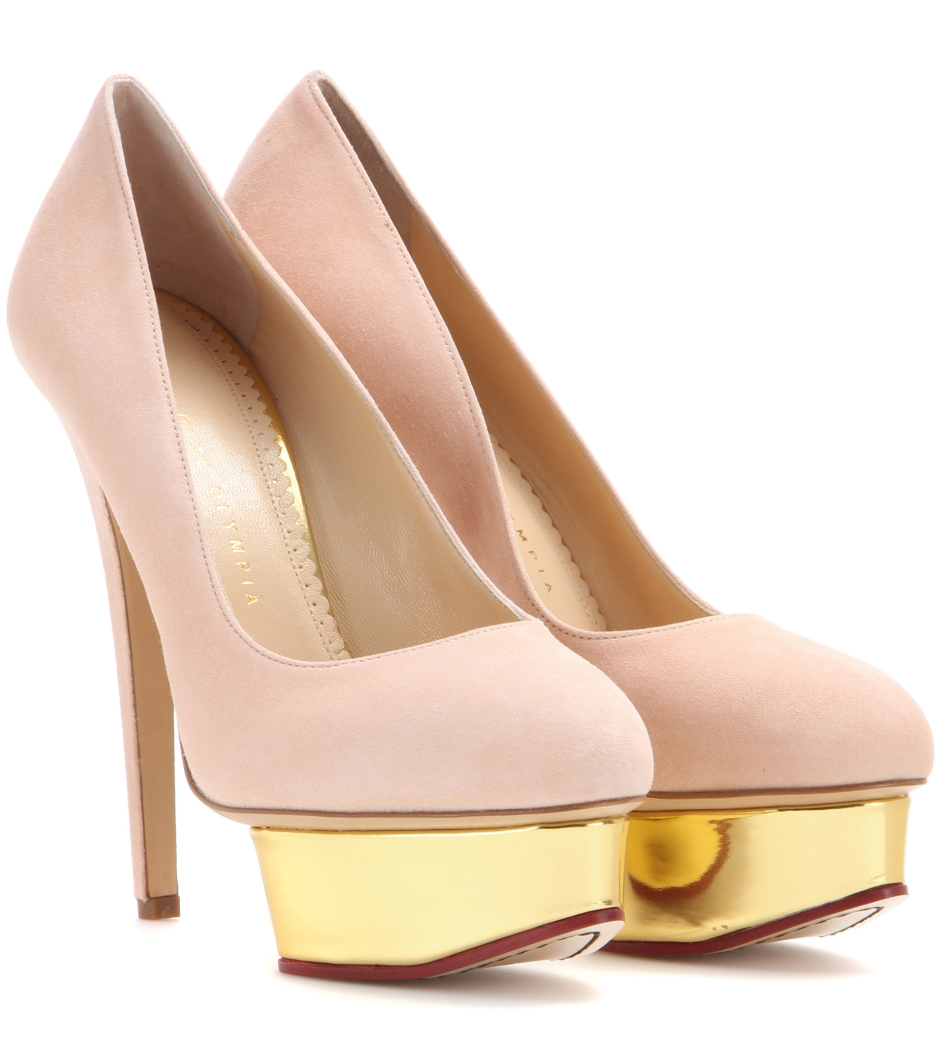 Pink Suede Dolly Shoes
