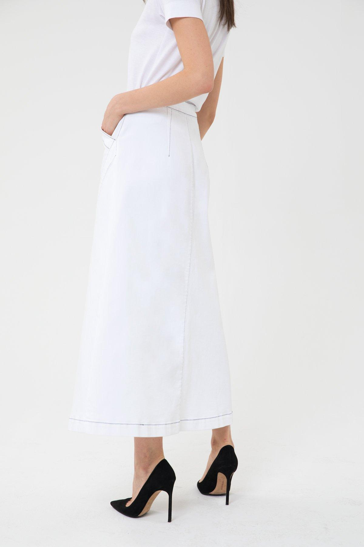a7a217d8c3 Lyst - 3x1 And Jason Wu Long Skirt in White