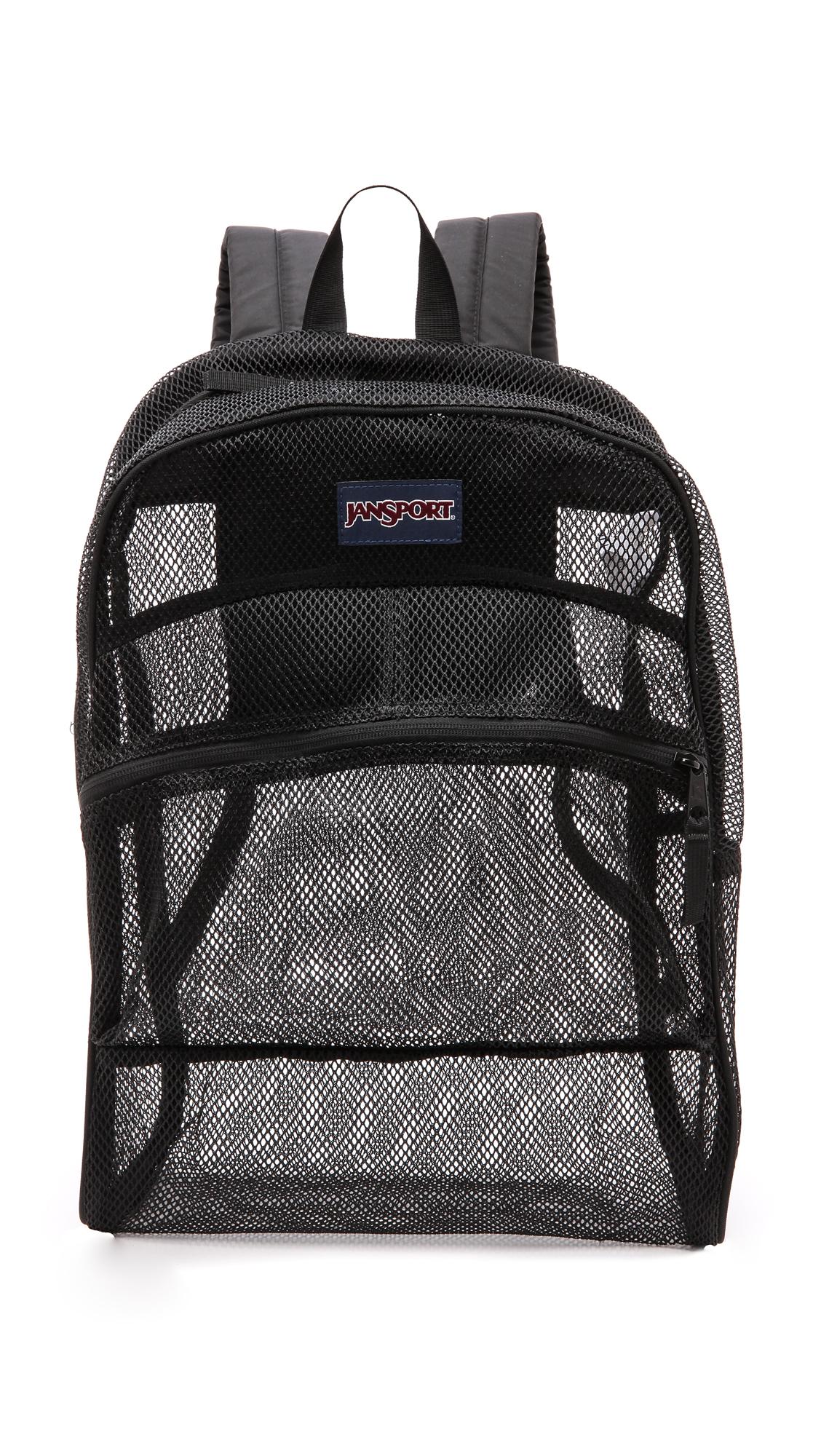 Jansport Mesh Backpack Black In Black Lyst
