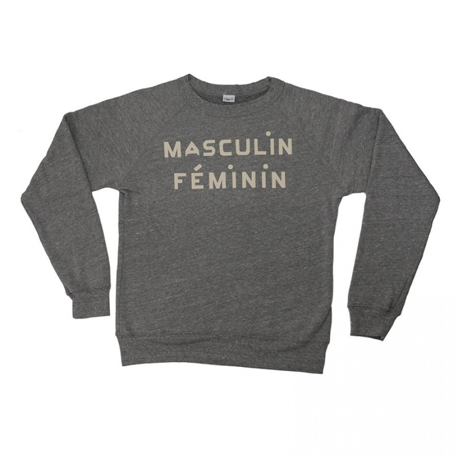 Clare v masculin feminin sweatshirt in gray lyst - Style masculin feminin ...