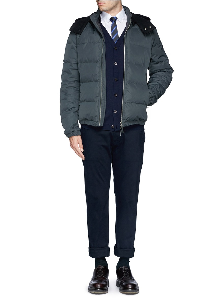 Marni Quilted Down Jacket In Blue For Men Lyst