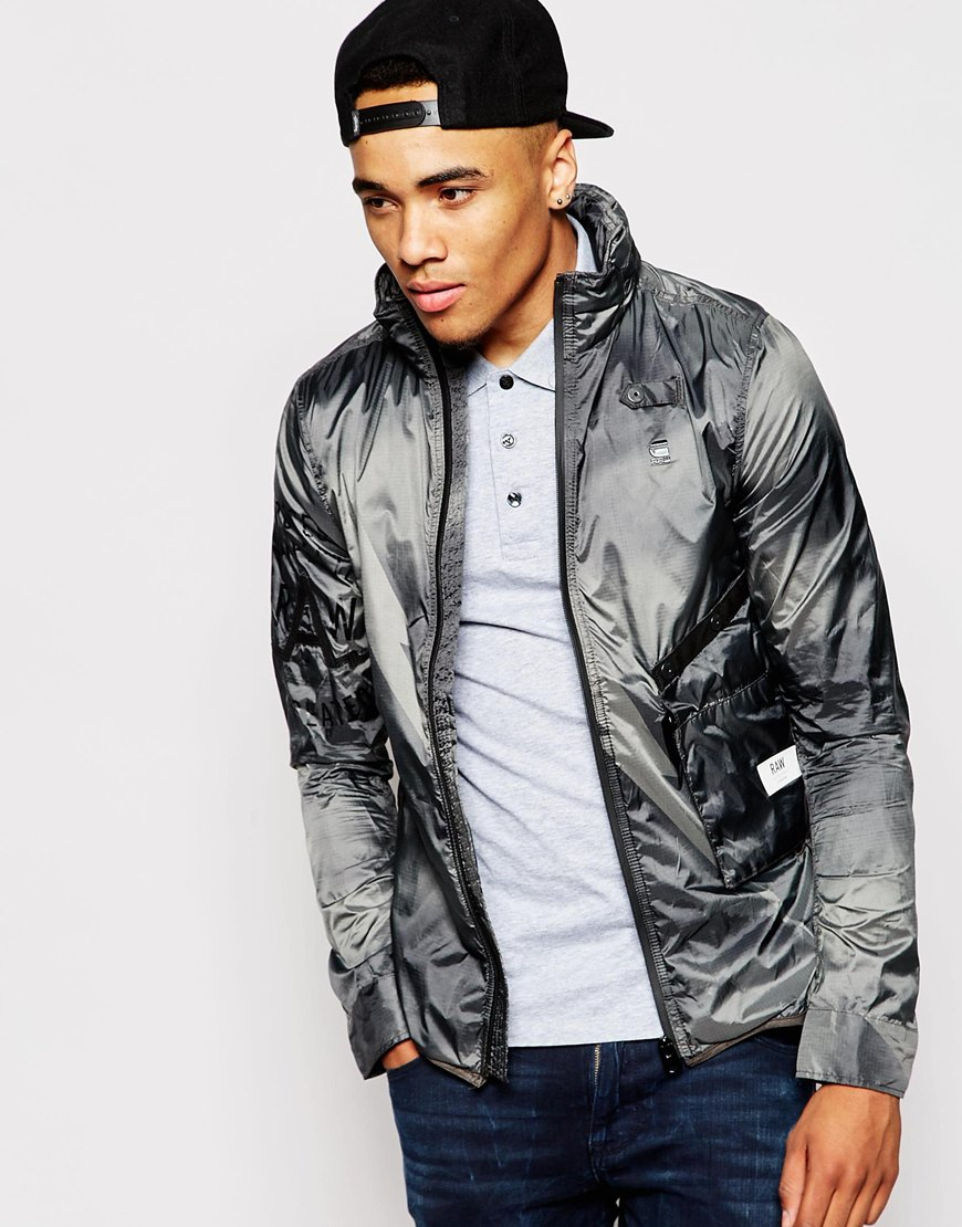 G-star raw Jacket Nubes Field Camo Lightweight Packable in Gray ...