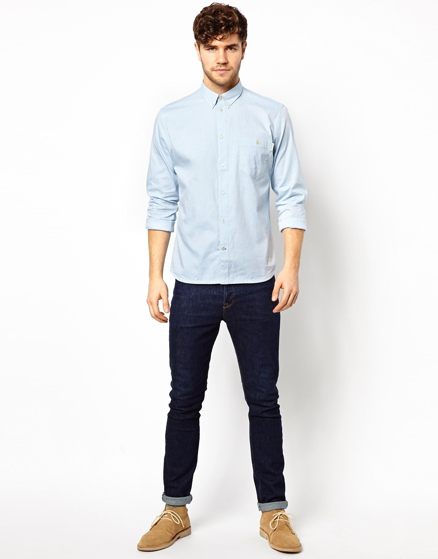 Paul smith Oxford Shirt in Blue for Men | Lyst