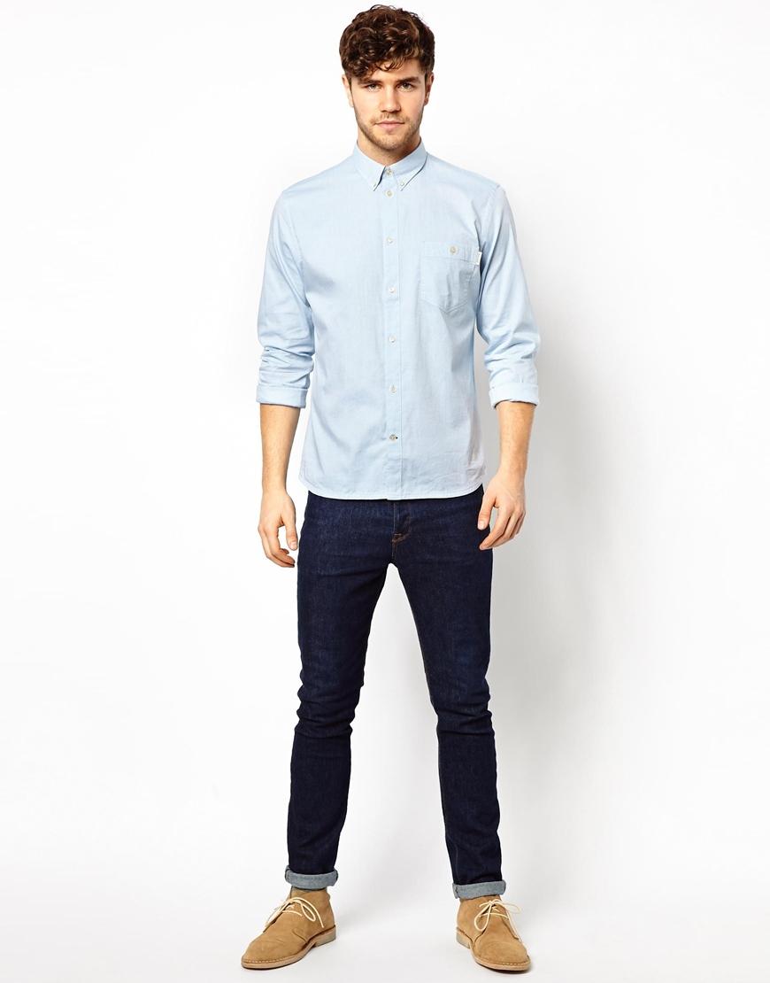 Mens oxford shirts artee shirt for Mens blue oxford shirt