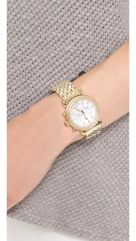 e832b0bb74dd Lyst - Michele Csx-36 Diamond Dial Watch - Gold in Metallic