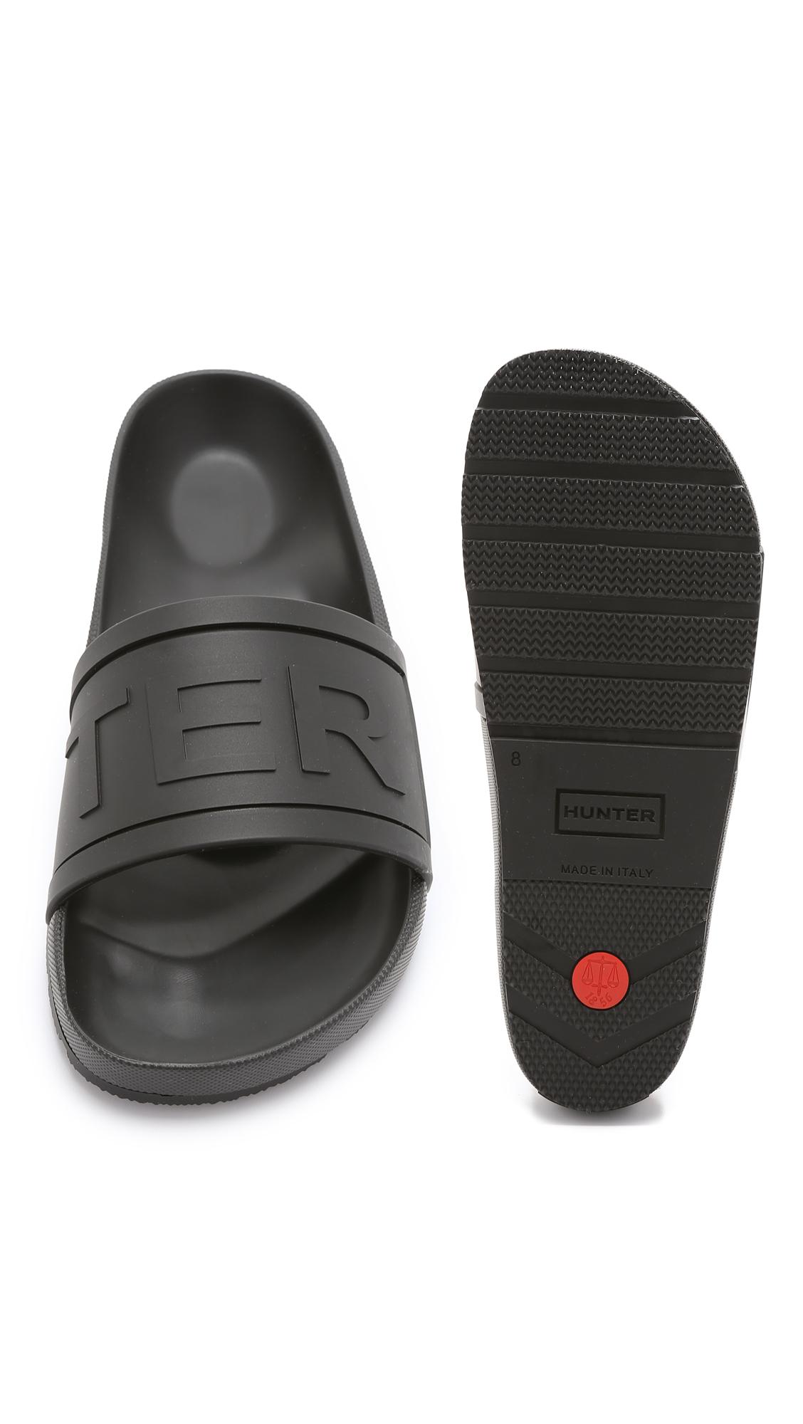 903ddbe01af72 Lyst - HUNTER Hunter Slides in Black for Men