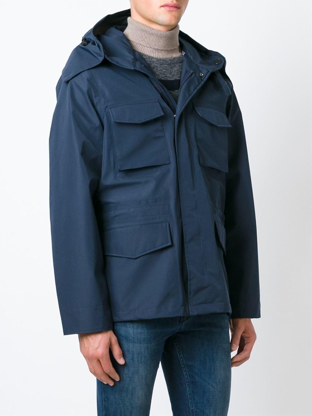 Aspesi Classic Parka Jacket in Blue for Men | Lyst