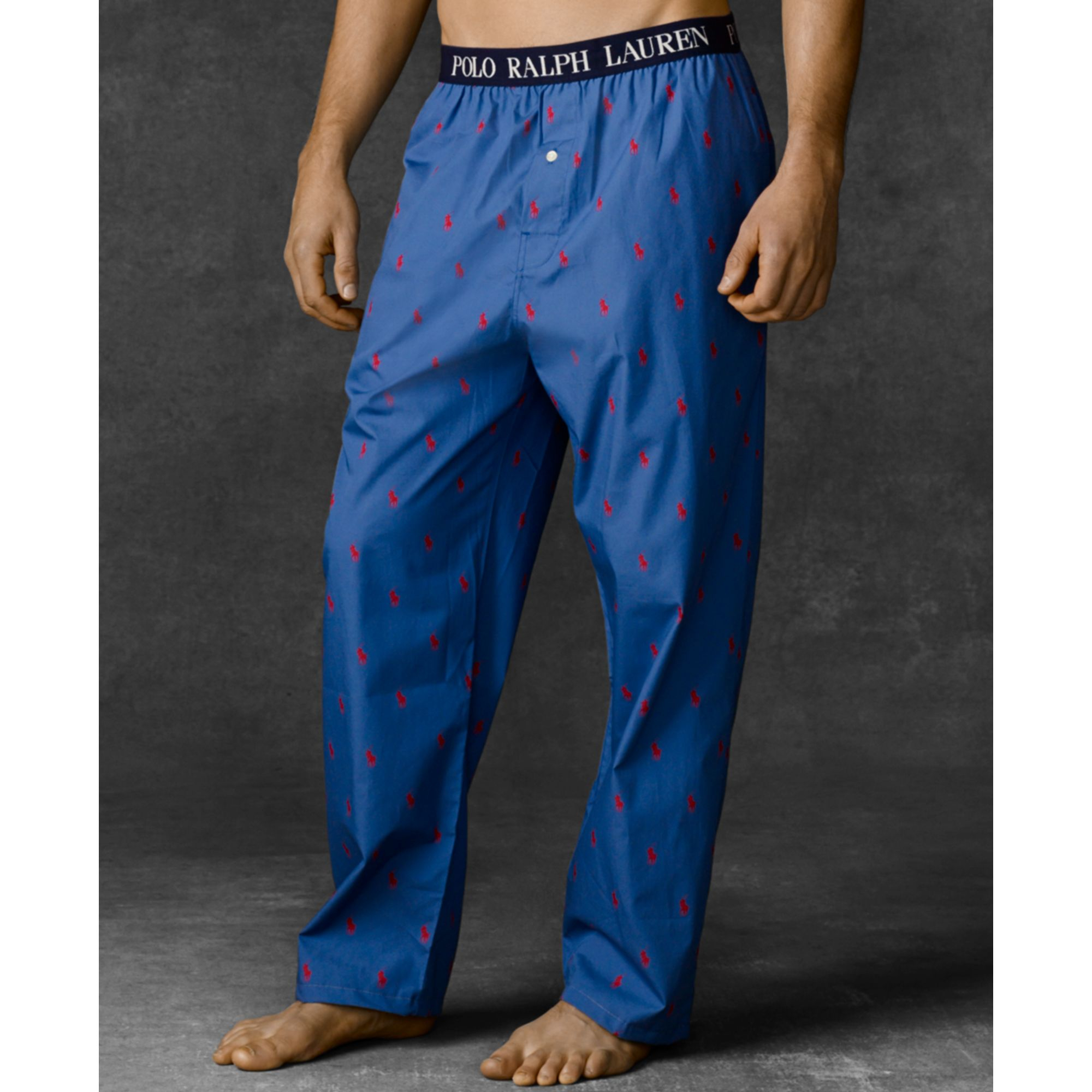 4595f2dee5 Lyst - Ralph Lauren Polo Mens Polo Player Pajama Pants in Blue for Men