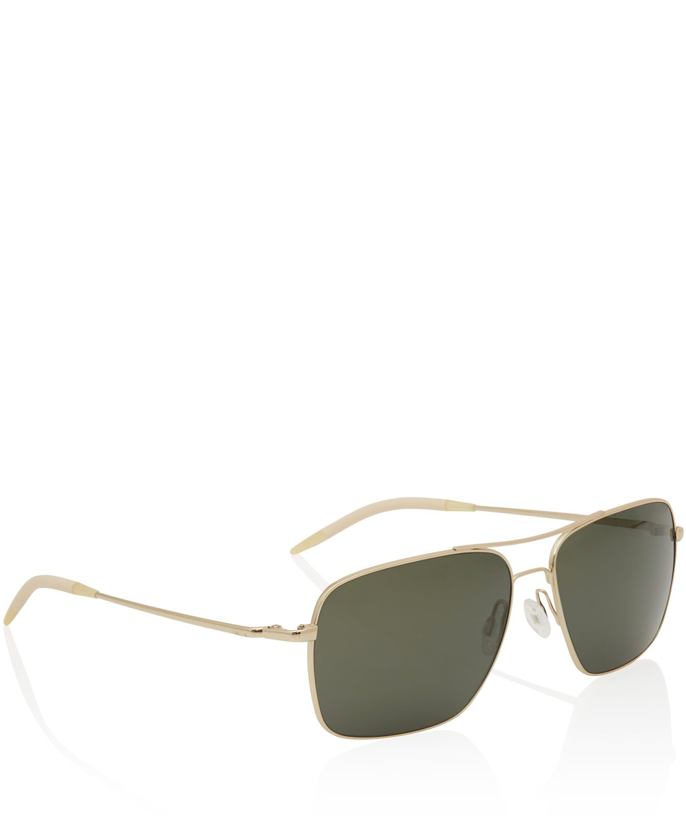 0ec5e6ff0fa Lyst - Oliver Peoples Gold Clifton Square Sunglasses in Metallic for Men