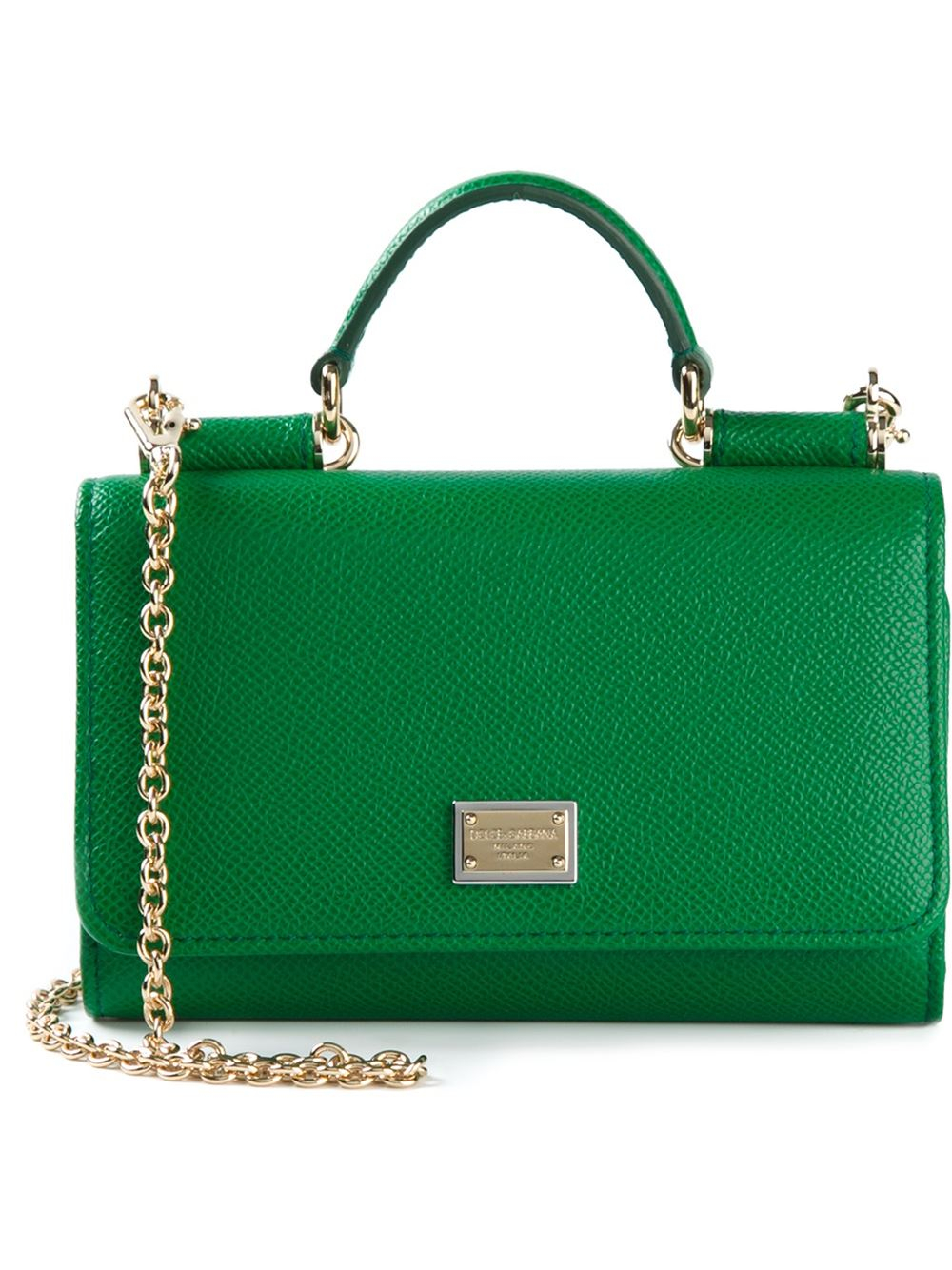 Dolce Gabbana Green Leather Handbag - Handbag Photos Eleventyone.Org dc8d194f68