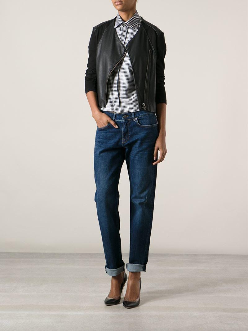 Victoria beckham Boyfriend Jeans in Blue | Lyst