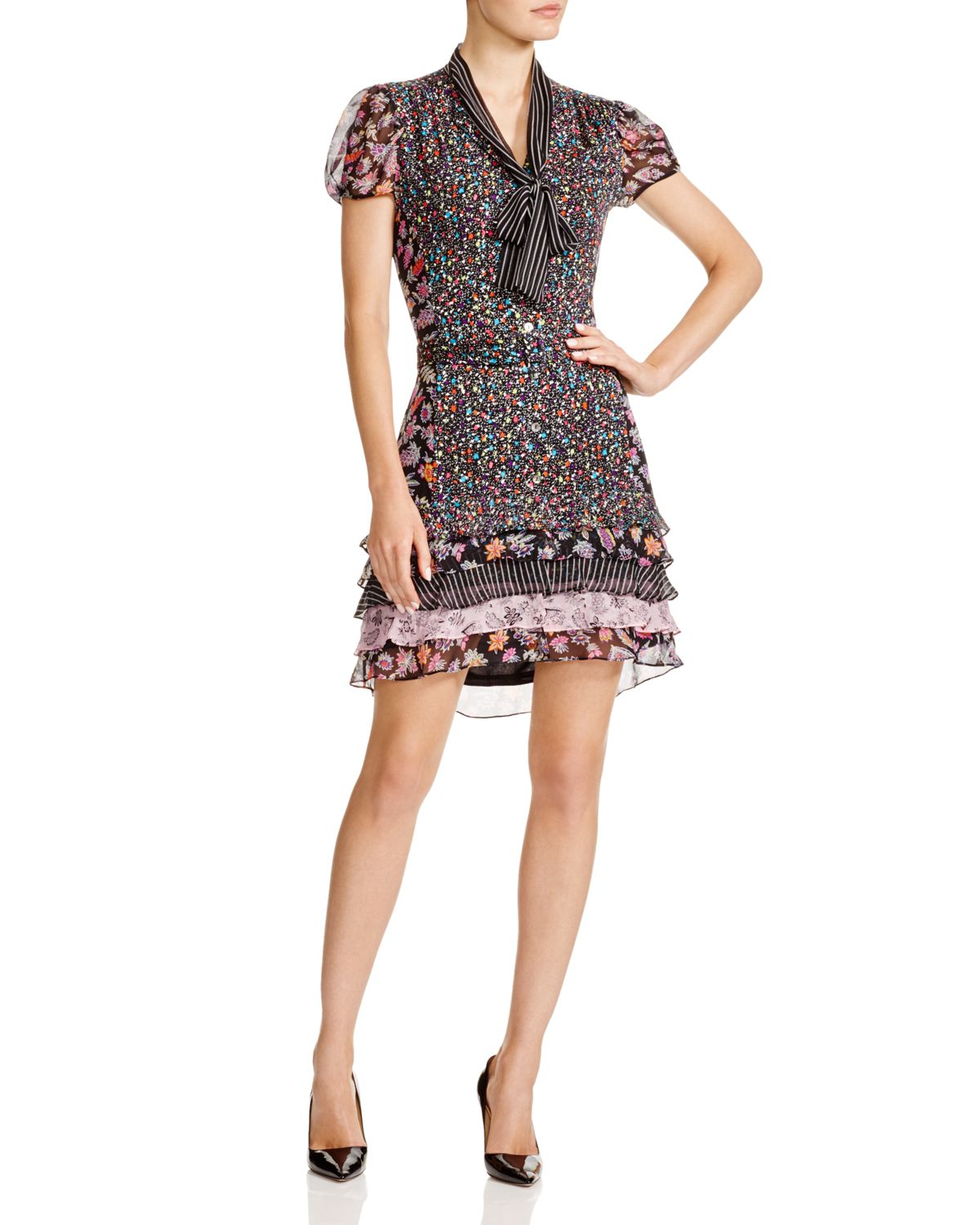 Lyst diane von furstenberg gypsy pattern block dress in for Diane von furstenberg clothes