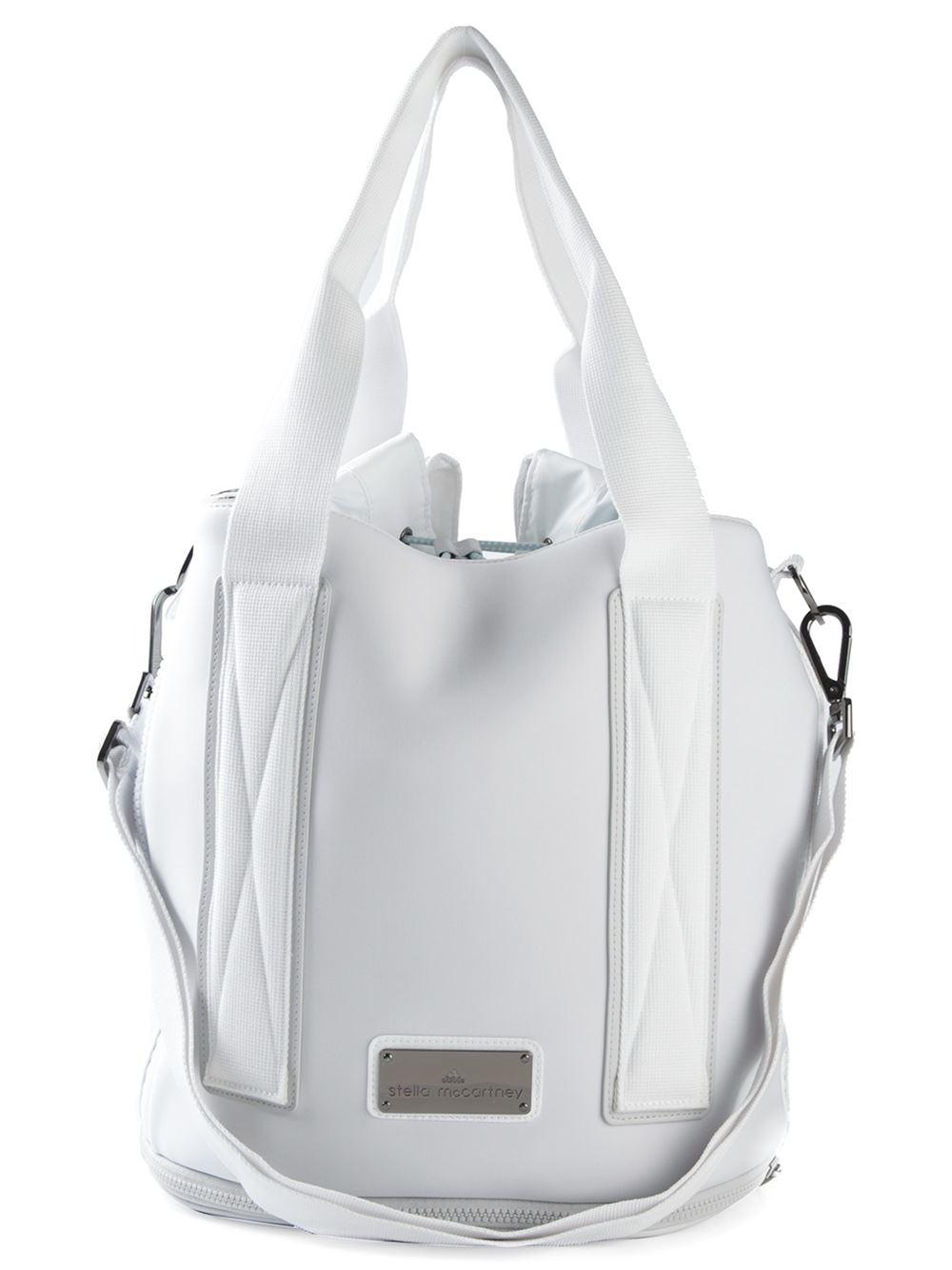 0fb8cdc047c Lyst - adidas By Stella McCartney Medium Tennis Bag in White