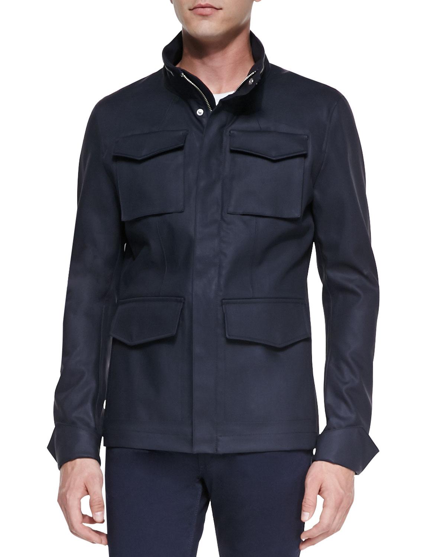 Lyst Acne Studios Ibsen Four Pocket Field Jacket In Blue