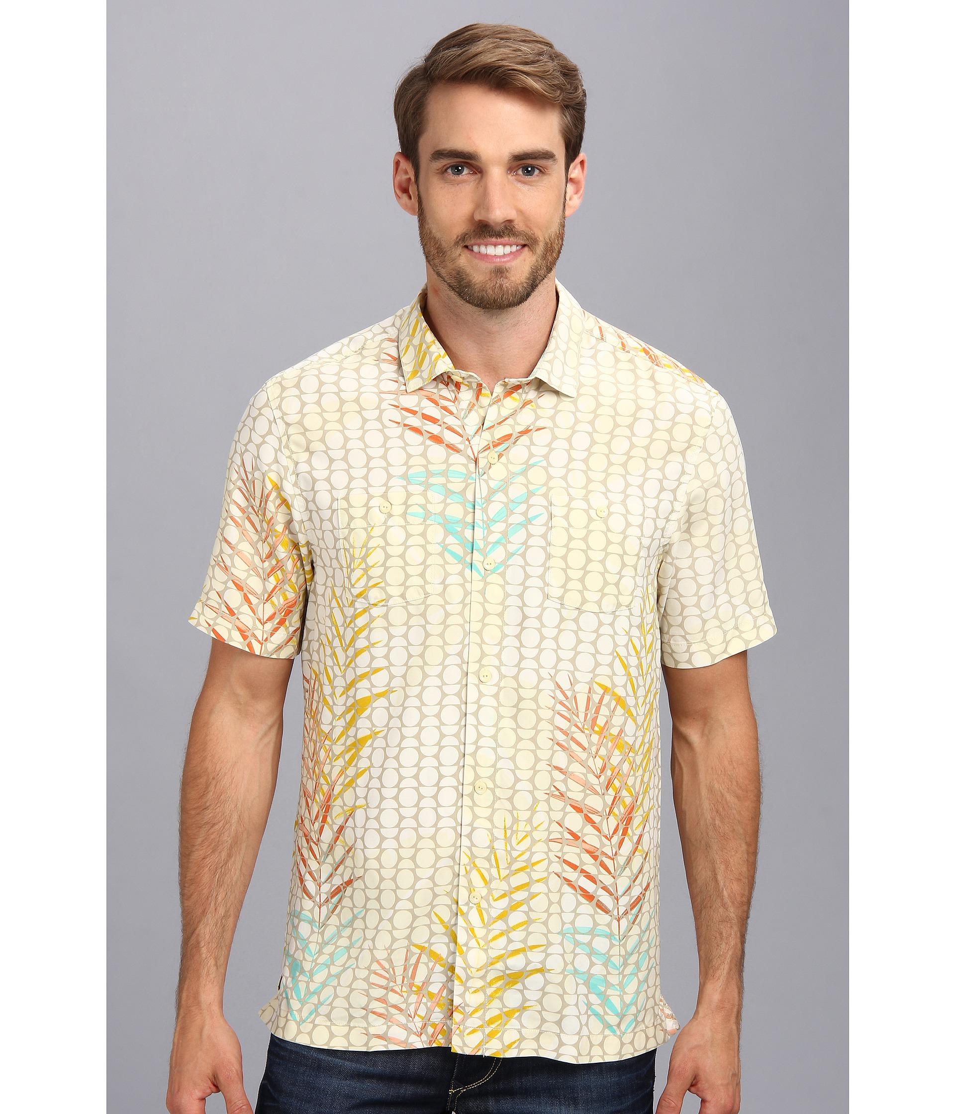 Tommy bahama island modern fit plinko palms ss camp shirt for Tommy bahama christmas shirt 2014