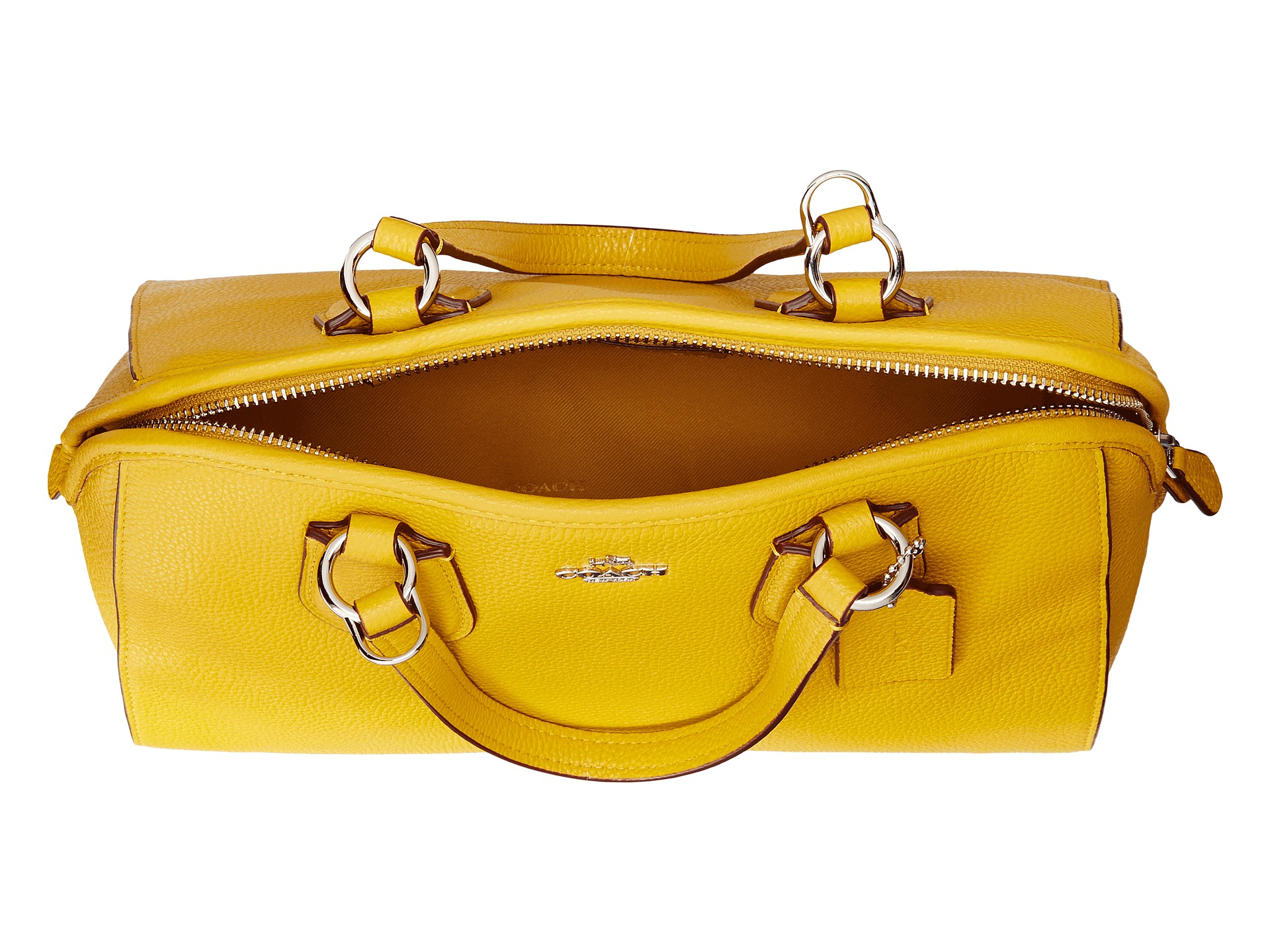 92d7bdf81e Lyst - COACH Pebbled Nolita Satchel in Yellow