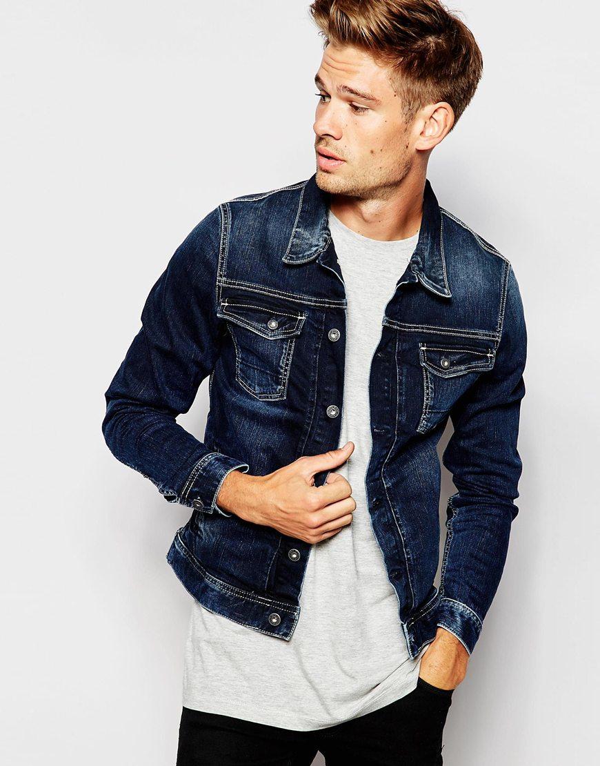 Denim blue jeans jacke