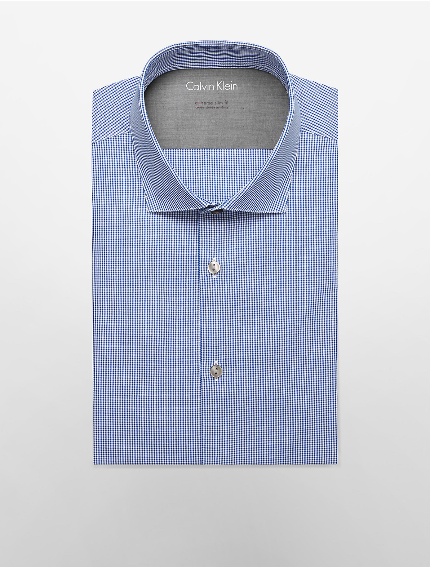 Lyst calvin klein white label x fit ultra slim fit navy for Calvin klein x fit dress shirt