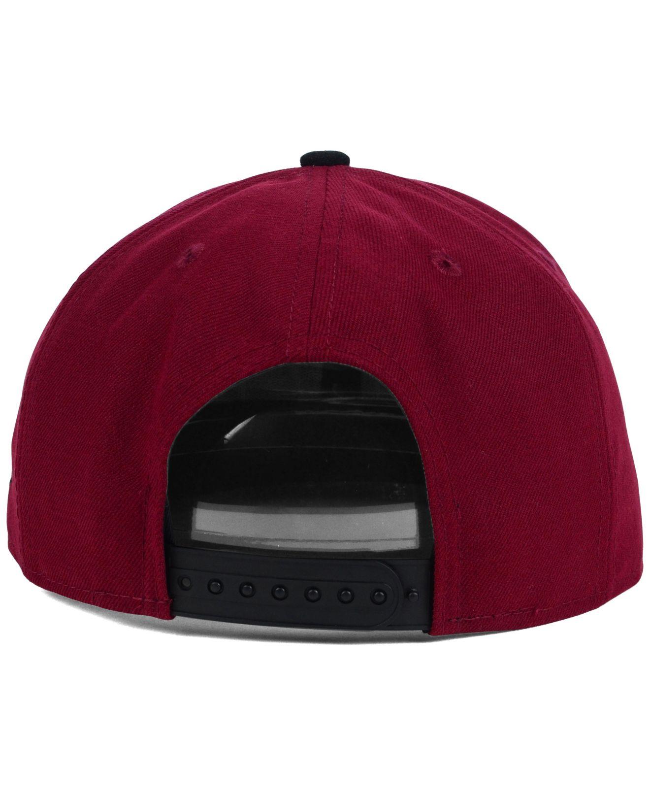 huge discount 19440 cf764 KTZ Stanford Cardinal Team Script 9Fifty Snapback Cap in Red for Men ...