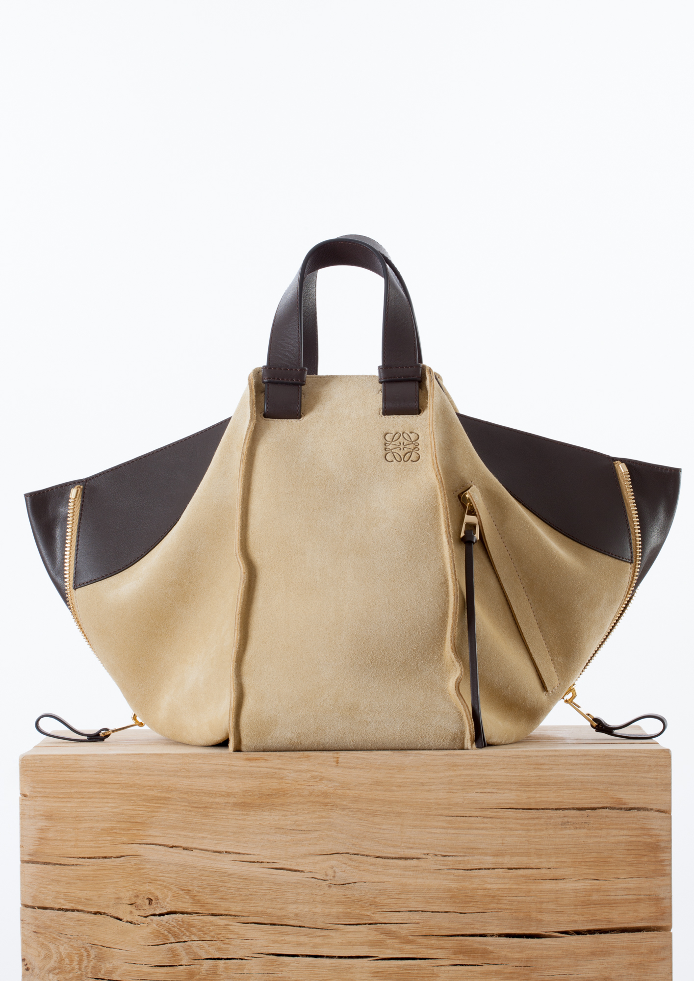Loewe Hammock Small Suede And Leather Shoulder Bag In