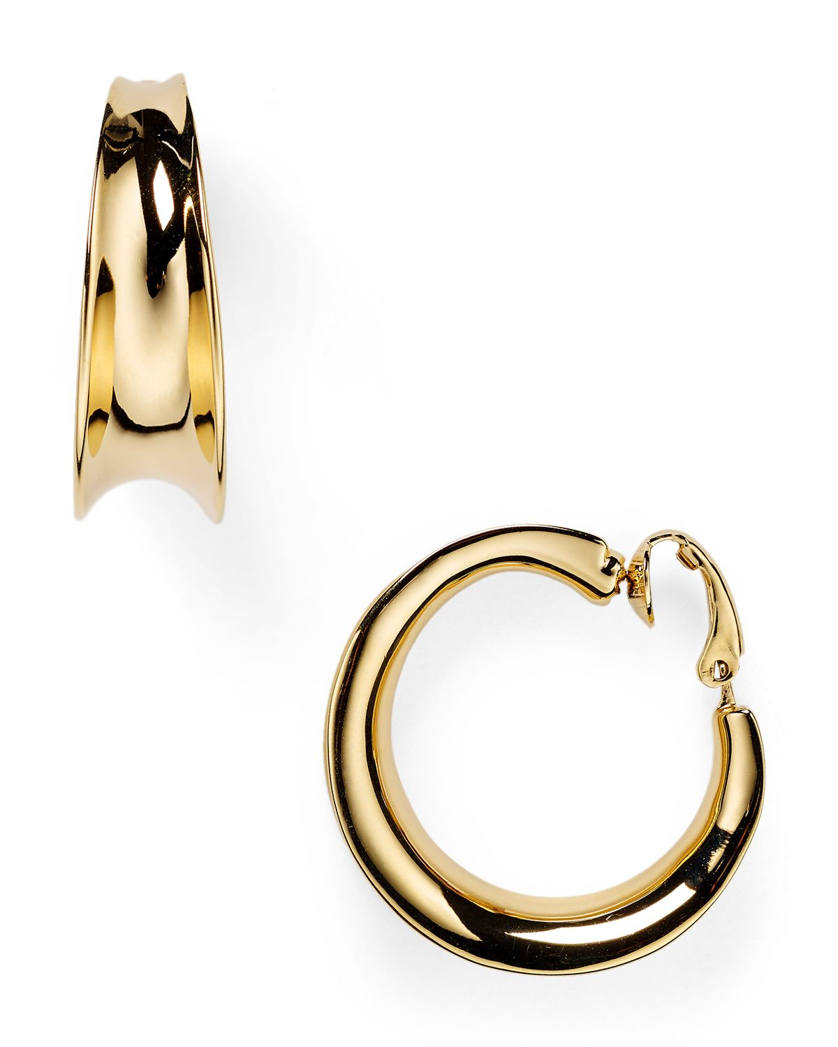 ralph clip on earrings ralph concave hoop clip on earrings in 6828