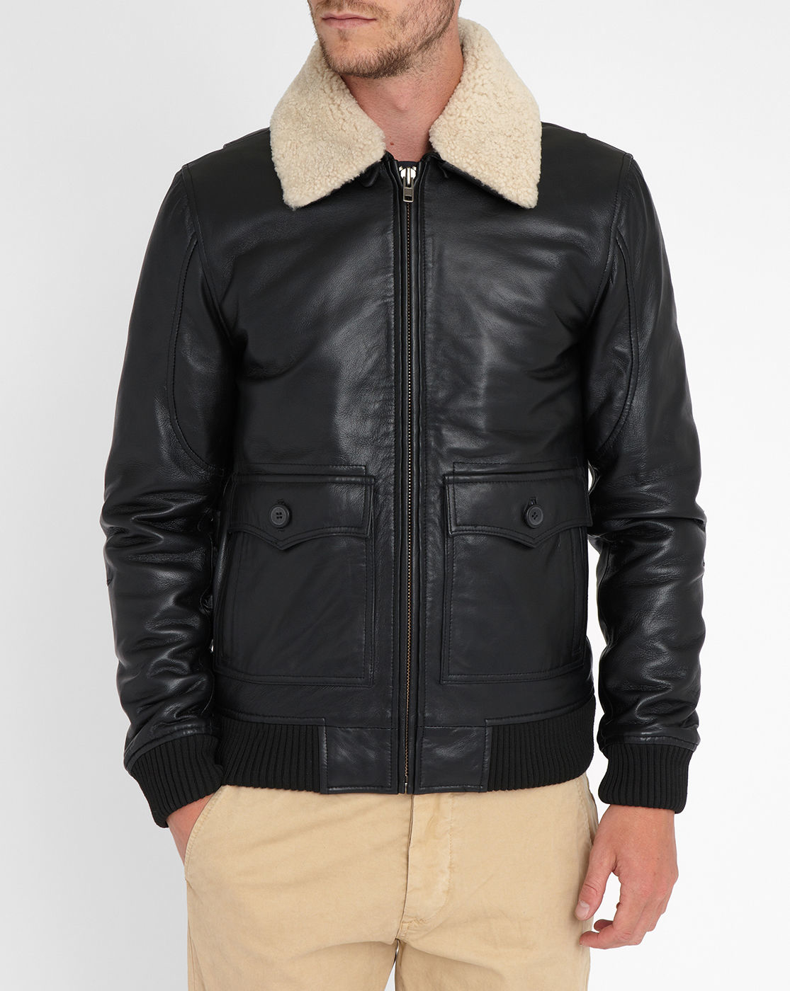 men s washed leather bomber jacket male models picture. Black Bedroom Furniture Sets. Home Design Ideas