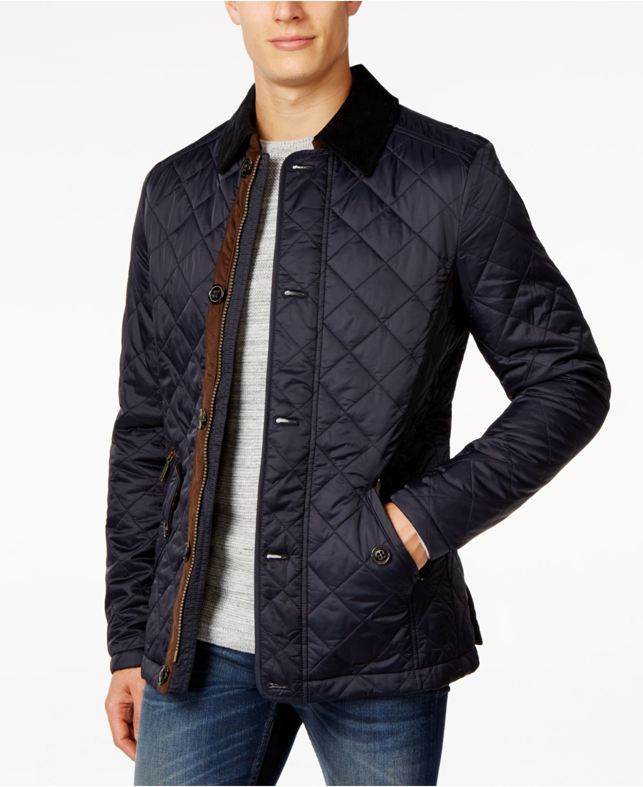 Barbour Fortnum Quilted Jacket in Blue for Men | Lyst : navy blue quilted coat - Adamdwight.com
