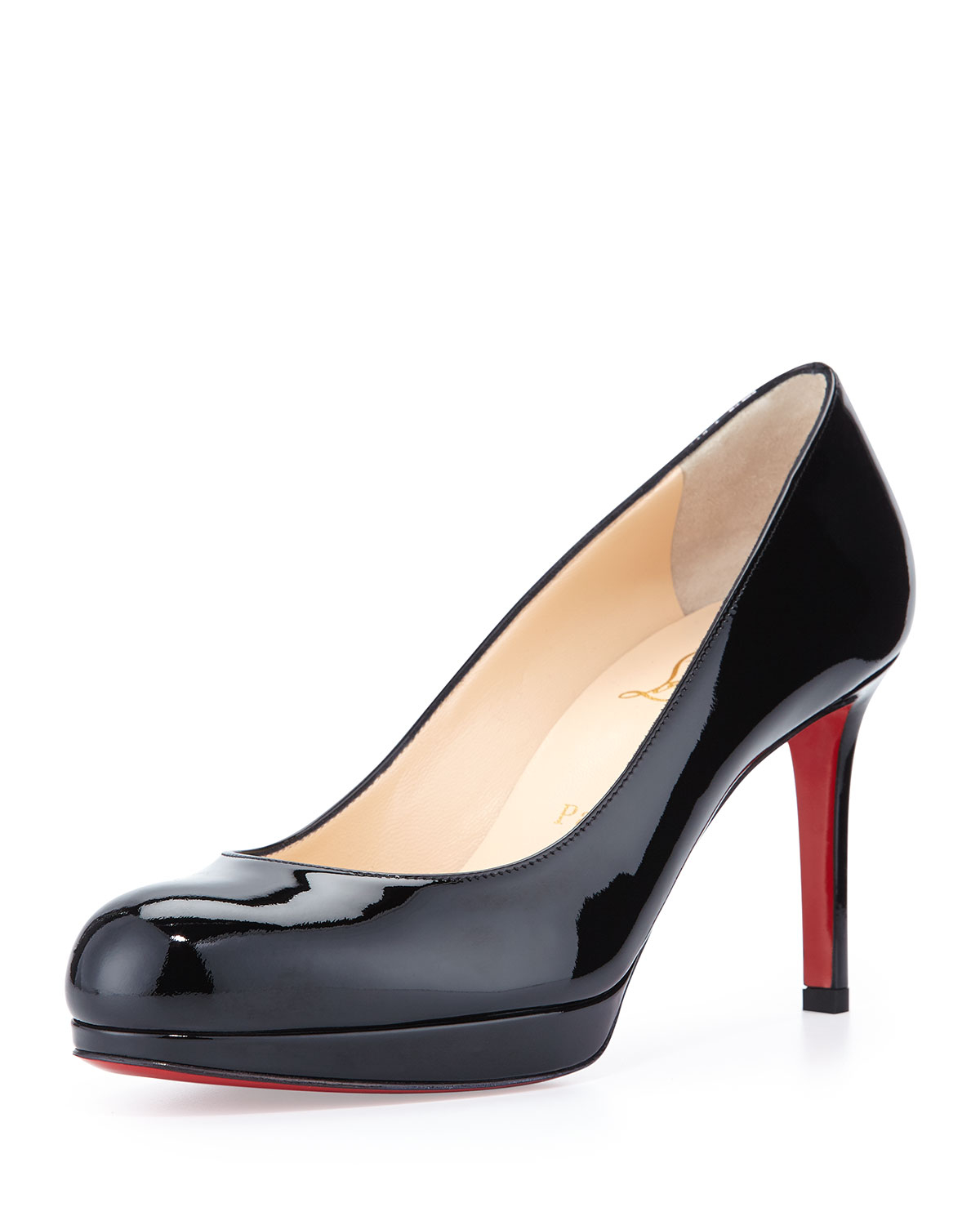 christian louboutin round-toe pumps