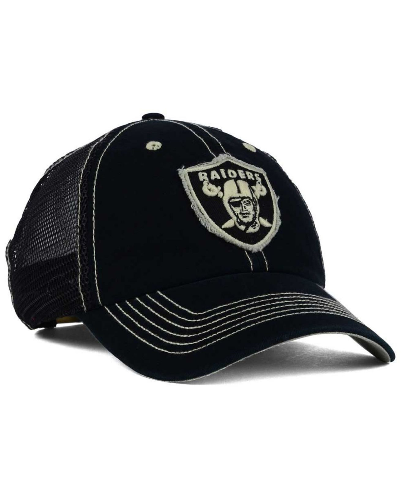 official photos 41df5 cf1cb ... new zealand lyst 47 brand oakland raiders turner mesh clean up cap in  black f107a 54141