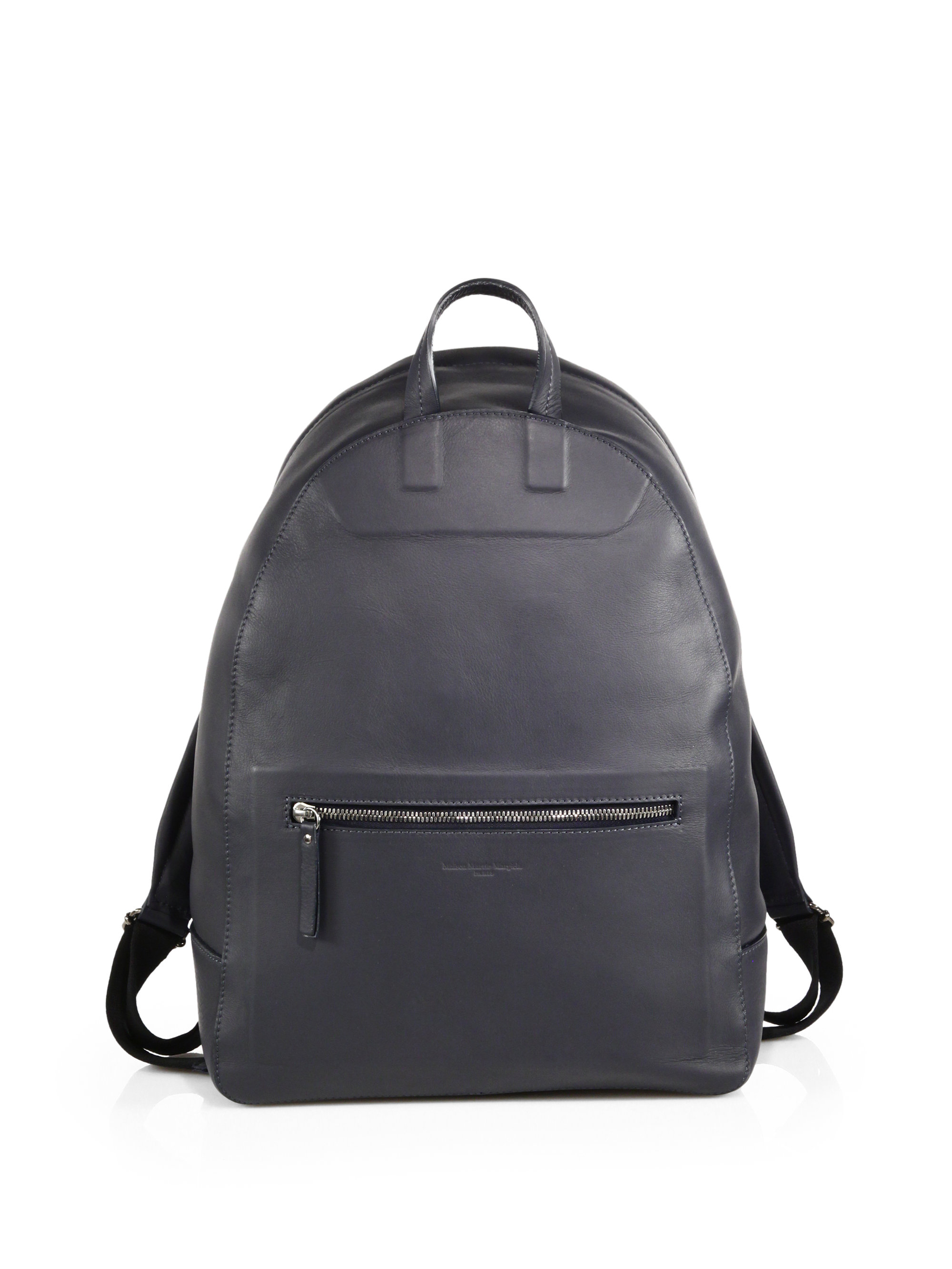 Contrast-panel drawstring leather backpack Maison Martin Margiela VnGWbr2s
