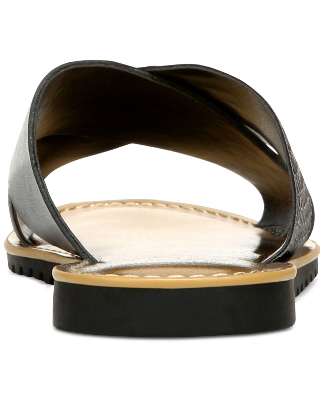 Franco Sarto Quentin Flat Sandals In Black Lyst