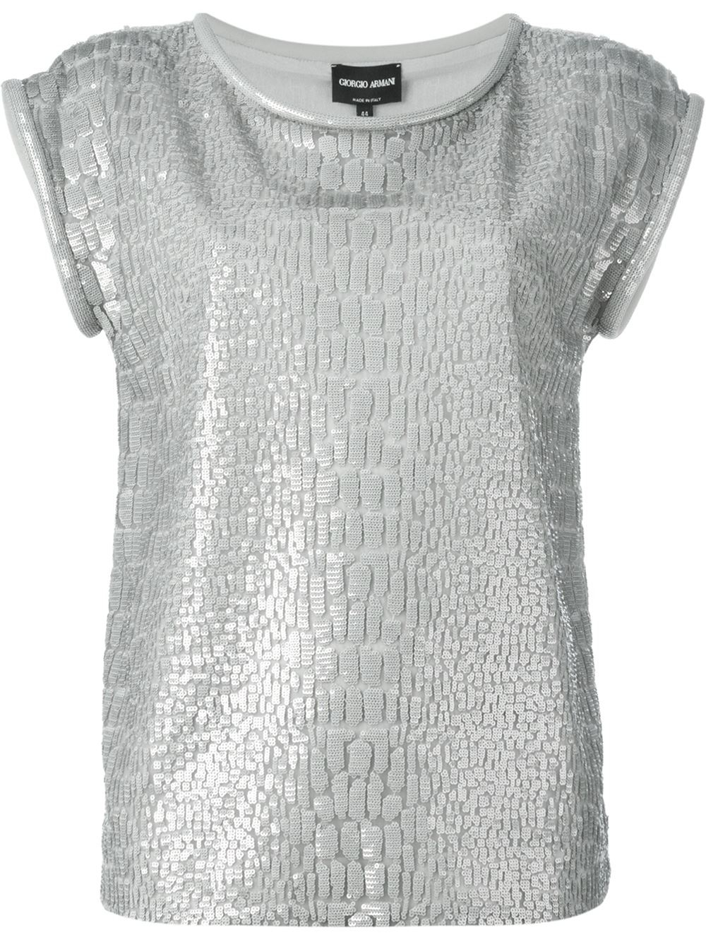 Silver Sequin Shirt Mens