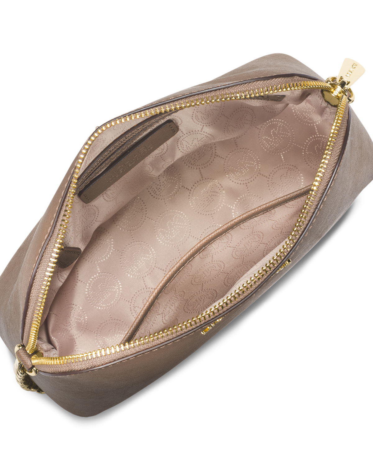 43ade4164558 Lyst - MICHAEL Michael Kors Cindy Large Dome Crossbody Bag in Natural