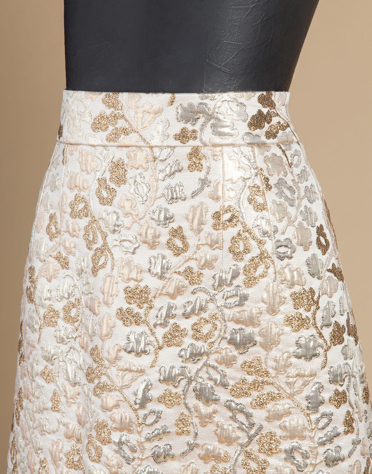 Lyst - Dolce   Gabbana A-line Skirt In Lurex Brocade in Metallic c2905e5a88