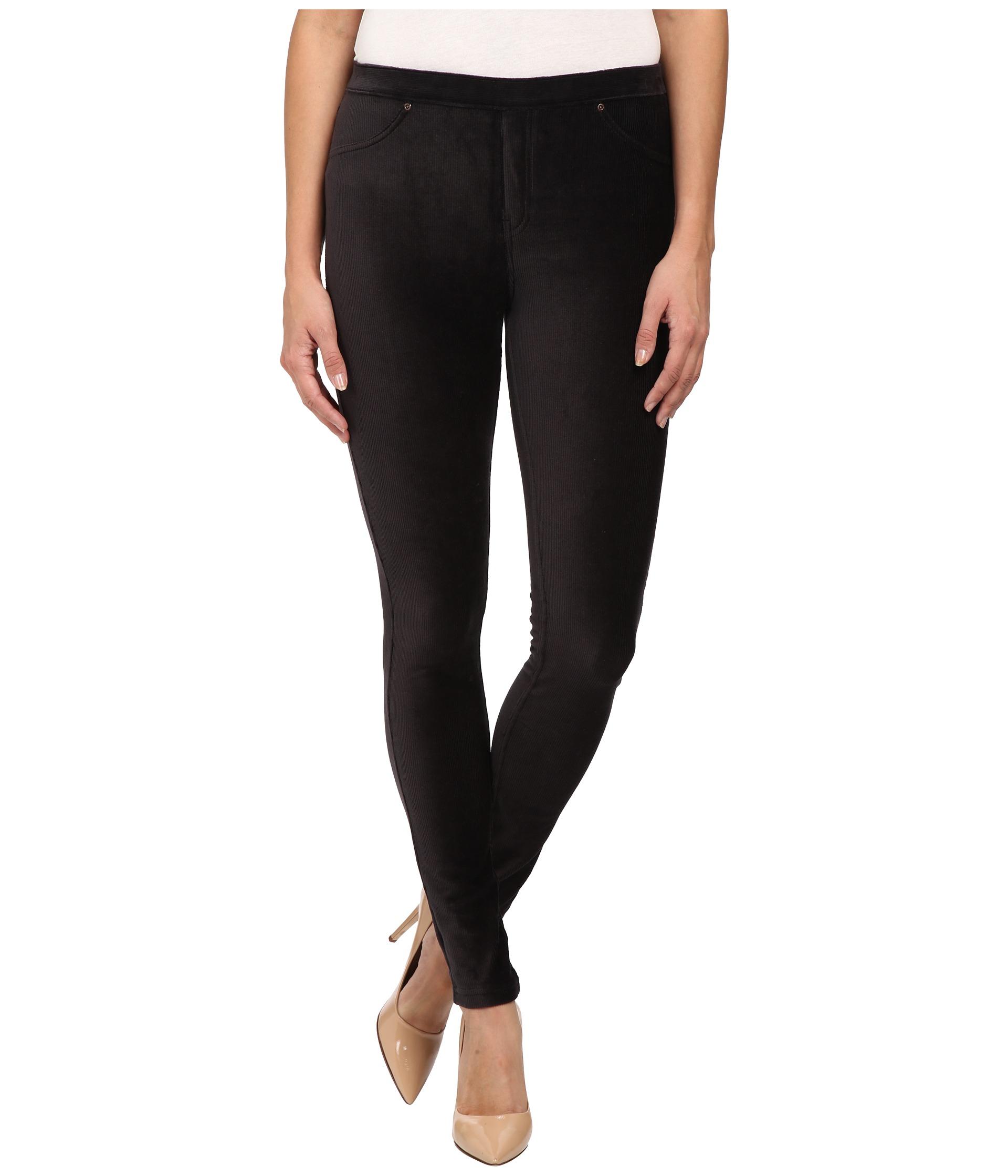 Hue Corduroy Jeans Leggings in Black   Lyst
