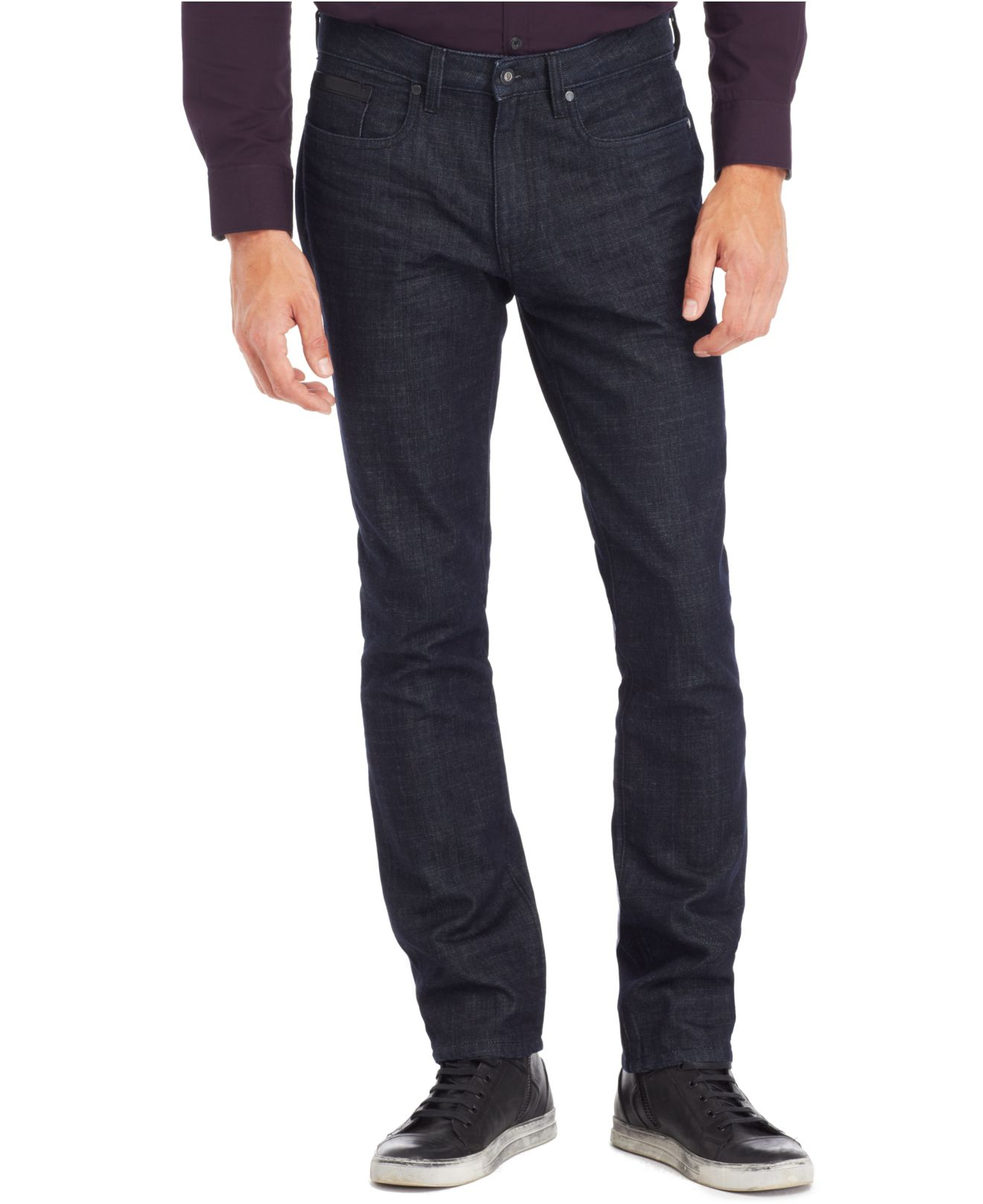 eb77f49a Kenneth Cole Reaction Straight-Fit Dark Wash Jeans in Blue for Men ...
