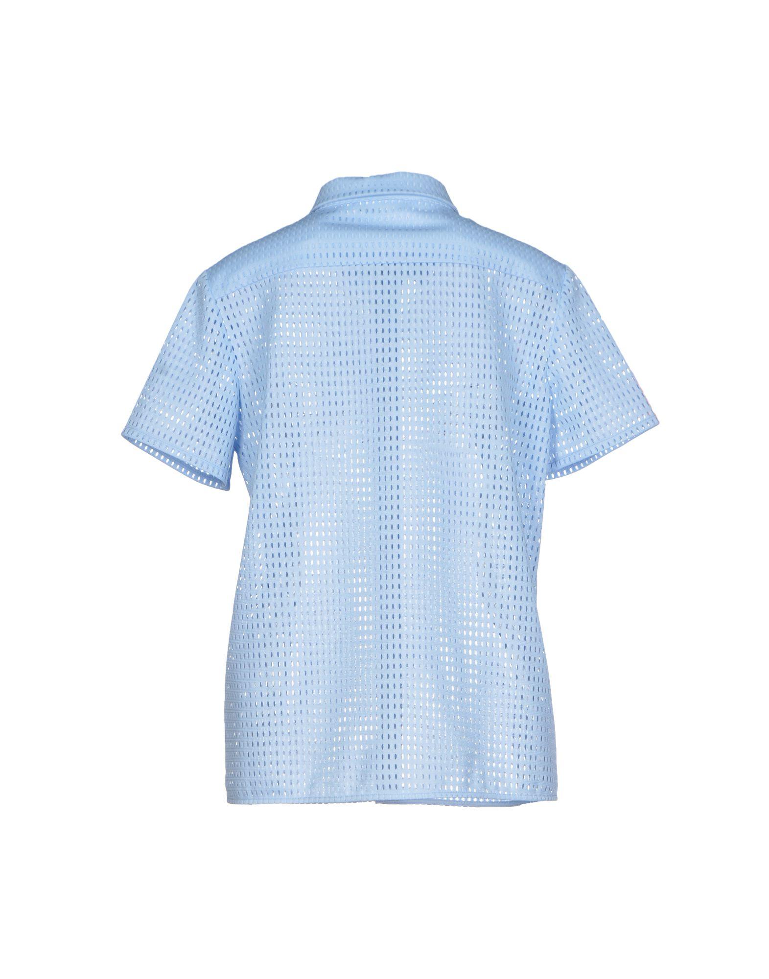 Lyst neil barrett shirt in blue for Neil barrett tuxedo shirt