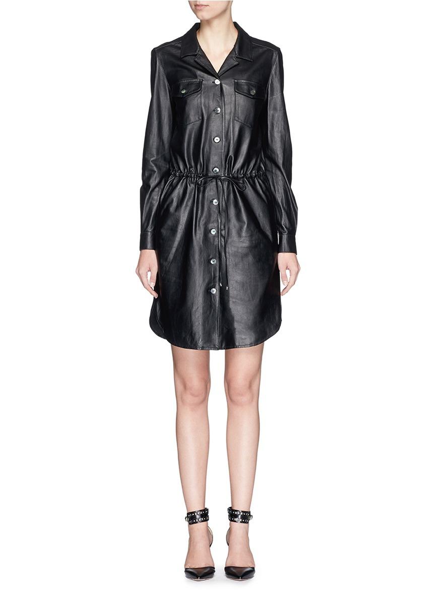 Diane von furstenberg 'piper' Lambskin Leather Drawstring ...