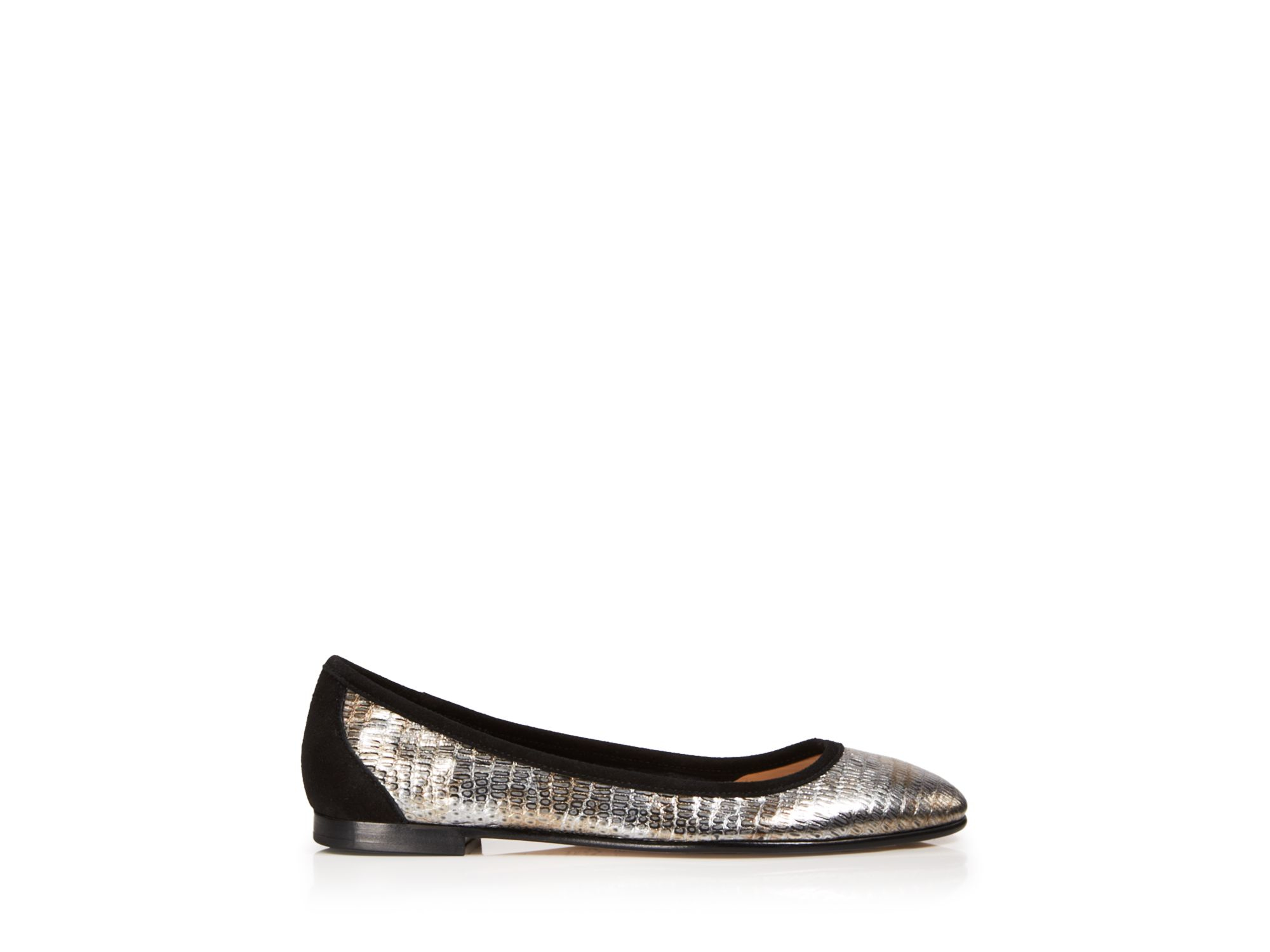 Via Spiga Metallic Leather Flats buy cheap 100% guaranteed C8sYrFJ