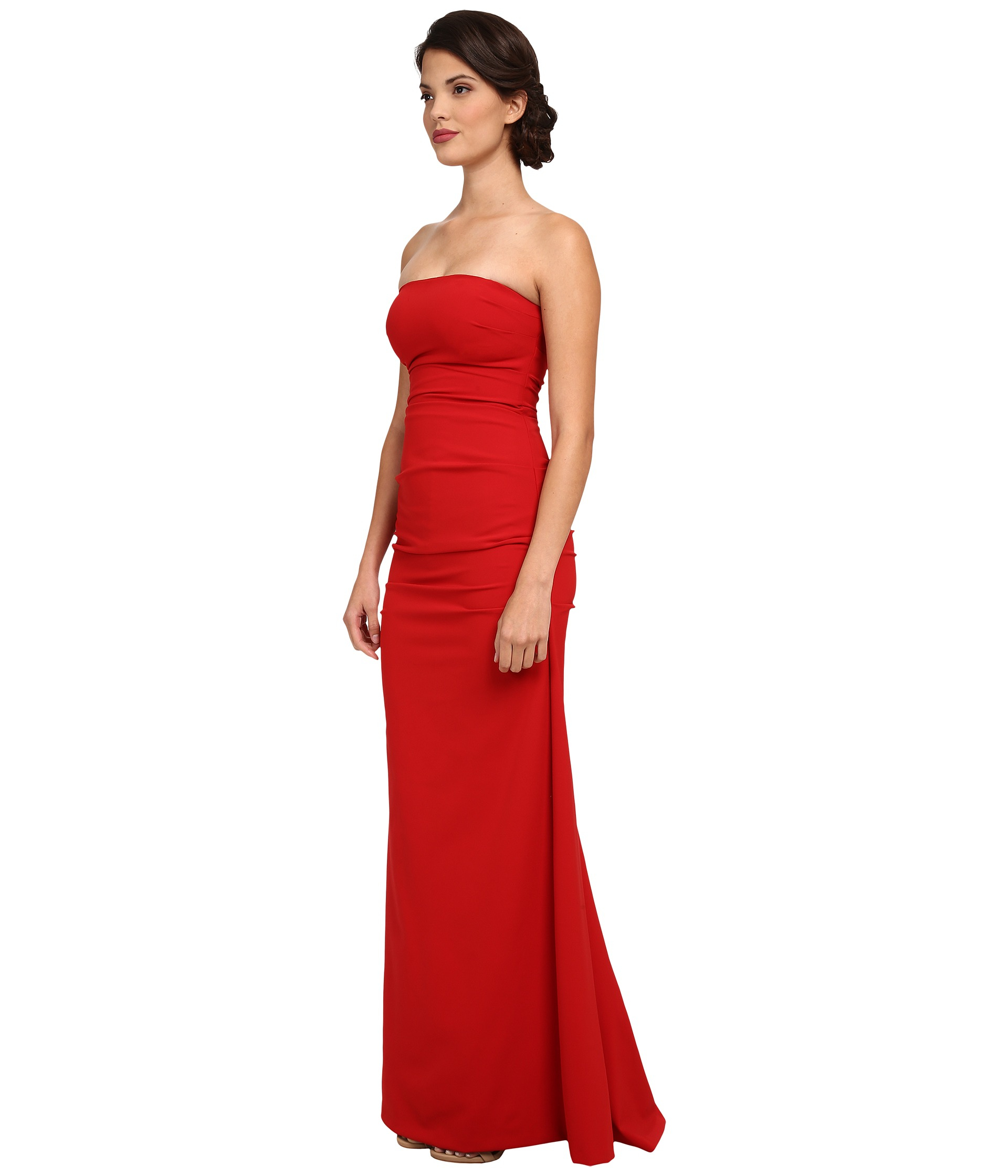 Nicole Miller Strapless Red Dress – fashion dresses